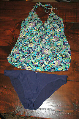 Old Navy Maternity Tankini Bathing Suit Size L Large *Top & Bottom*