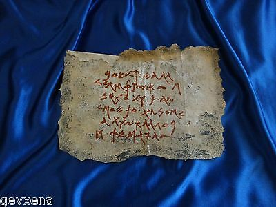 EXTREMELY RARE Xena/Hercules SCREEN USED Parchment/Scroll