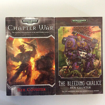 Warhammer 40K Black Library Soul Drinkers novels by Ben Counter x 2