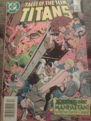 Tales Of The Teen Titans 72 DC Comics 1986. 5.5/6.5 Condition.