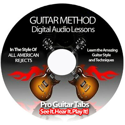 All American Rejects Guitar Tab Software Lesson CD + BACKING TRACKS + BONUSES