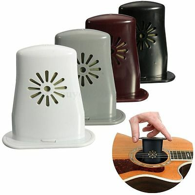 Pop Acoustic Guitar Bass Sound Holes Humidifier Black Moisture Reservo HU