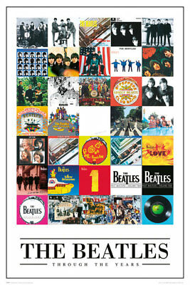 (LAMINATED) The Beatles Albums POSTER (61x91cm) Through The Years Print New