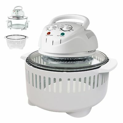 17L Kitchen Grill Bake Cook Halogen Convection Oven Cooker & Extender Ring 1400W
