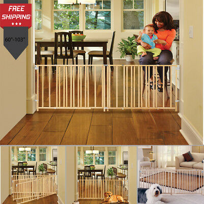 Baby Safety Gate Door Babies Child Proof Pet Dog Cat Extra Wide Protection Fence