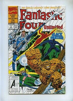 Fantastic Four Unlimited #1 - Marvel 1993 - VFN+ - Black Panther App