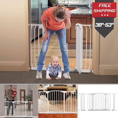 Extra Wide Baby Safety Gate Door Babies Child Proof Pet Dog Cat Protection Fence