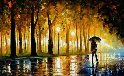 (LAMINATED) BEWITCHED PARK POSTER (61x91cm) LEONID AFREMOV PRINT new licensed
