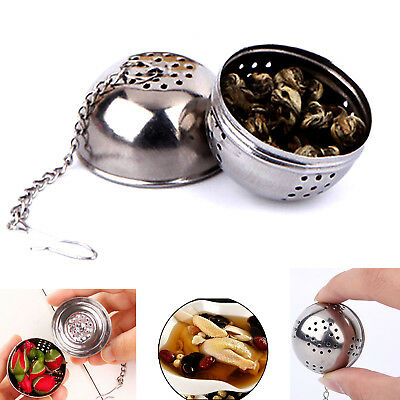 Tea Ball Strainer Infuser Metal Bag Filter Strainer Squeezer Herbal Spice Newly