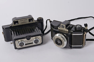 Coronet 3D Camera  Single or 3D Pictures on 127 Size Film + Case & Coronet Cadet