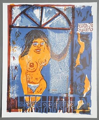 Karl-Heinz Hansen-Bahia Odette Serigraphie 41x49cm Sex for Everyone 1973 Signed