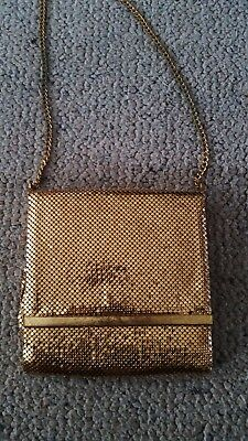 Oroton gold glomesh evening bag good condition fully lined with chain handle