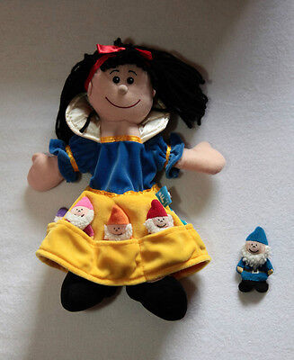Snow White and Seven Dwarfs Puppet and Finger Puppets - Great for Storytelling