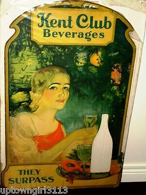 1940s-50 SODA ADVERTISING obscure rare KENT CLUB BEVERAGES Philadelphia Weiller