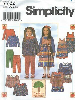 Simplicity 7313 Girls Easy Jumper Sewing Pattern ~ Size 3-8