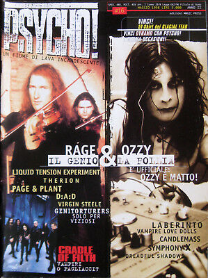 PSYCHO 16 1998 Rage Ozzy Osbourne Cradle Of Filth Page & Plant Therion Laberinto