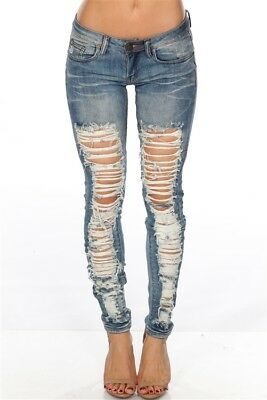 NEW Machine Distressed Ripped Skinny Denim Jeans pick  0 1 3 5 7 9 11 13