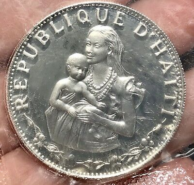 1973 Haiti Silver 50 Gourdes. Nice Coin For Your Collection Or Set