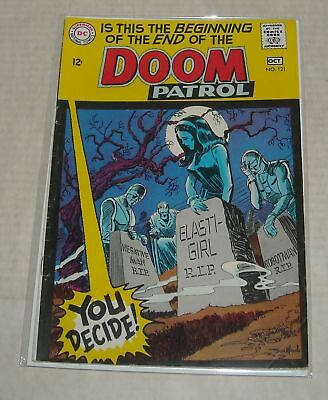 KEY 1968 DC Comics DOOM PATROL #121 DEATH ISSUE MADAME ROUGE & ZAHL BLOW GUIDE