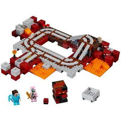Lego Minecraft 21130 The Nether Railway Instructions Only 099