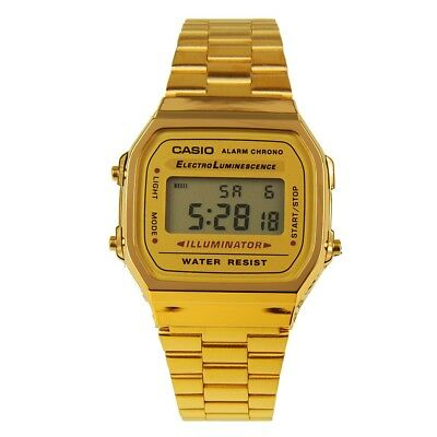 Casio  A168WG Gold Tone  Unisex Digital Stainless Steel Watch