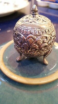 Stunning Antique Indian Solid Silver Pepper Pot Weight 33 Grams