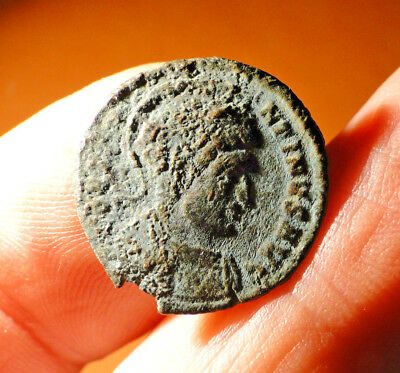 Constantine the Great AE3 Bronze Coin, BEAT TRA-NQLITAS, (Trier mint)