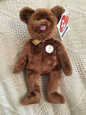 Ty Beanie Babies Champion Bear FIFA  2002 World Cup Korea Japan w/ Tag Excellent
