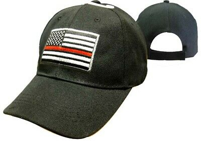 2c9ba2344f1 MESH Support TRL Fire Department THIN Red LINE USA Flag Patch Cap CAP650M  Hat