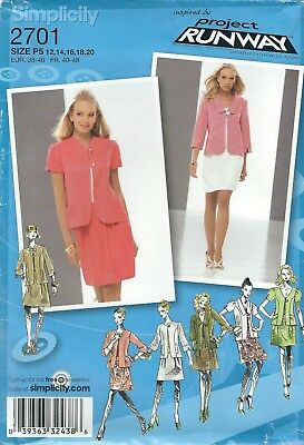 Simplicity 2701 Misses' Jacket with Variation & Skirt    Sewing Pattern