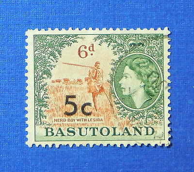 1961 BASUTOLAND 5c SCOTT# 66a S.G.# 63 USED                              CS20211