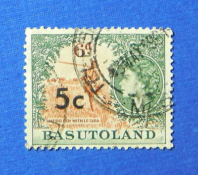 1961 BASUTOLAND 5c SCOTT# 66a S.G.# 63 USED                              CS20203