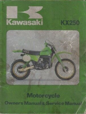Kawasaki Kx250 Kx 250 Original 1978 Factory Instruction Book & Service Manual