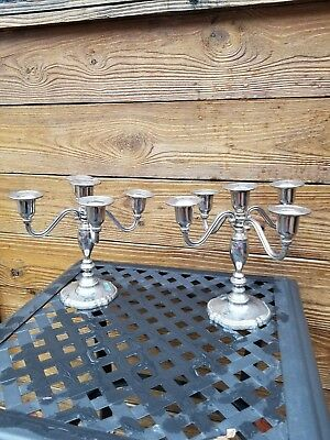 CANDELABRAS - Set of 2, 5-Candle ea. by International Silver Company