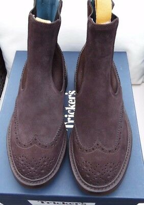 Suede coffee chelsea boot TRICKER'S