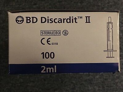 BD MEDICAL SYRINGES 2ML  5ML 10ML 20ML DISCARDIT STERILE VARIOUS PACK and SIZE