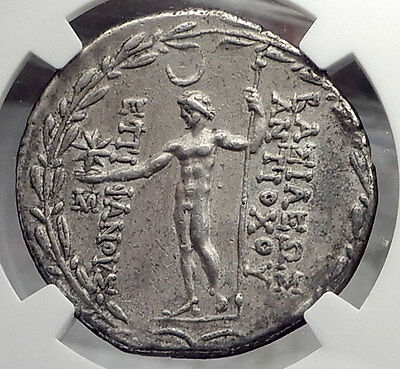 ANTIOCHOS VIII Grypos Seleukid Ancient Silver Tetradrachm Greek Coin NGC i58856