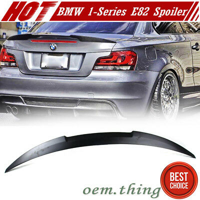 Unpainted BMW E82 1 SERIES 2DR COUPE M4 TYPE BOOT TRUNK SPOILER 13 135i