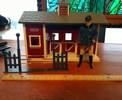 Breyer Brand Small Horse Barn/Stables with Equestrian Figure &