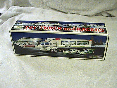 1997 Hess Toy Truck  And Racers--- New! ! !