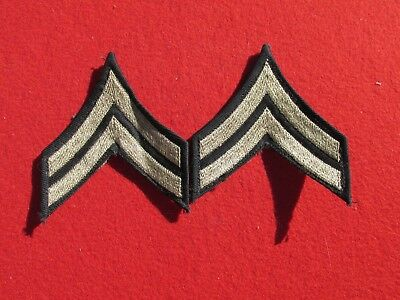 WW 2 US Army  corporal rank insignia chevrons matched pair