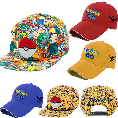 Pokemon Go Cap Hat Team Valor Team Mystic Team Instinct Pokemon Cap Boys Girls A