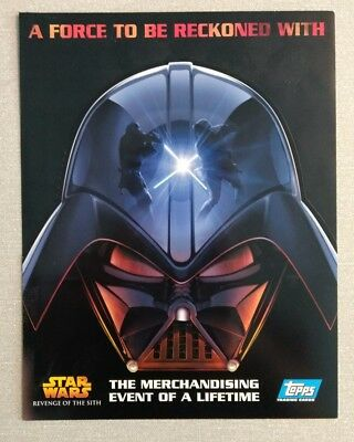 Star Wars - Topps 2005 ROTS - Promo Release A4 Sell Sheet / Revenge of the Sith