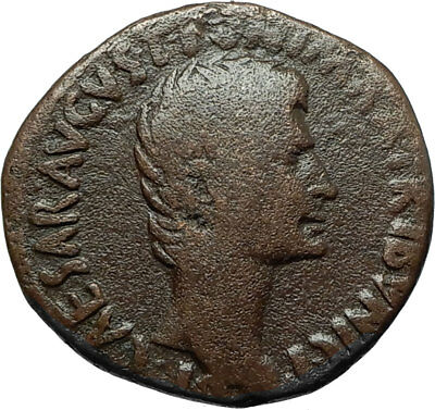 AUGUSTUS Original 7BC Rome Authentic Ancient Genuine Roman Coin LARGE SC i66486