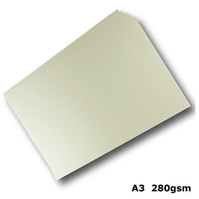 100 Sheets Cream Ivory A3 Card 280gsm Smooth Finish High Quality #H8468