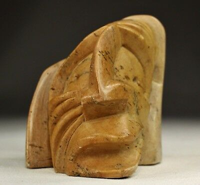 Old Vintage Native American Six Nations Iroquois Indian Stone Carving Figure