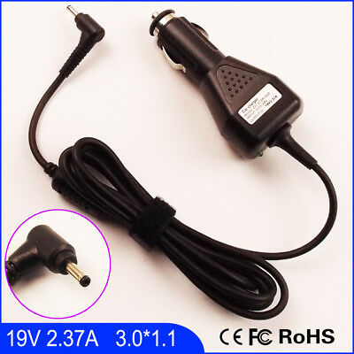 Laptop Car DC Adapter Charger For Acer KP.04501.004 19V 2.37A 3.0mm*1.1mm