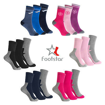 Kinder Thermo Socken im 3er Pack - Vollfrottee - Rosa-Mix oder Marine-Mix