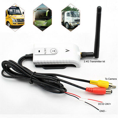 2.4G Wireless AV Cable Transmitter and Receiver For Truck Bus Rear View Camera