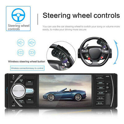 "4.1"" HD 1DIN Car Stereo Video MP3/MP5 Player Bluetooth FM Radio AUX USB Kj"
